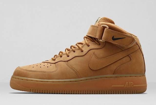Brilliant Mens Nike Tan Air Force 1 Leather Trainers