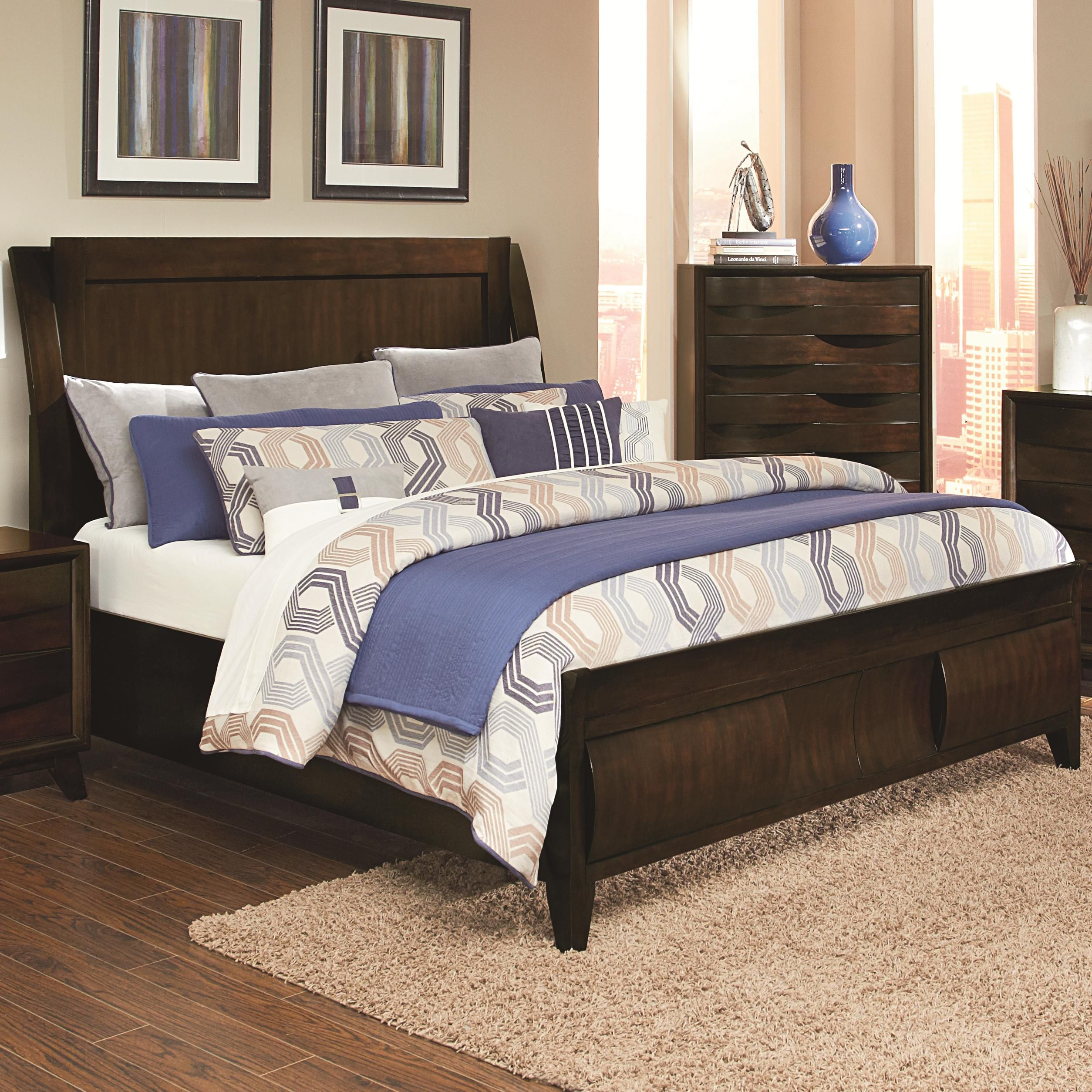 Queen Headboard and Footboard Panel Bed (With images