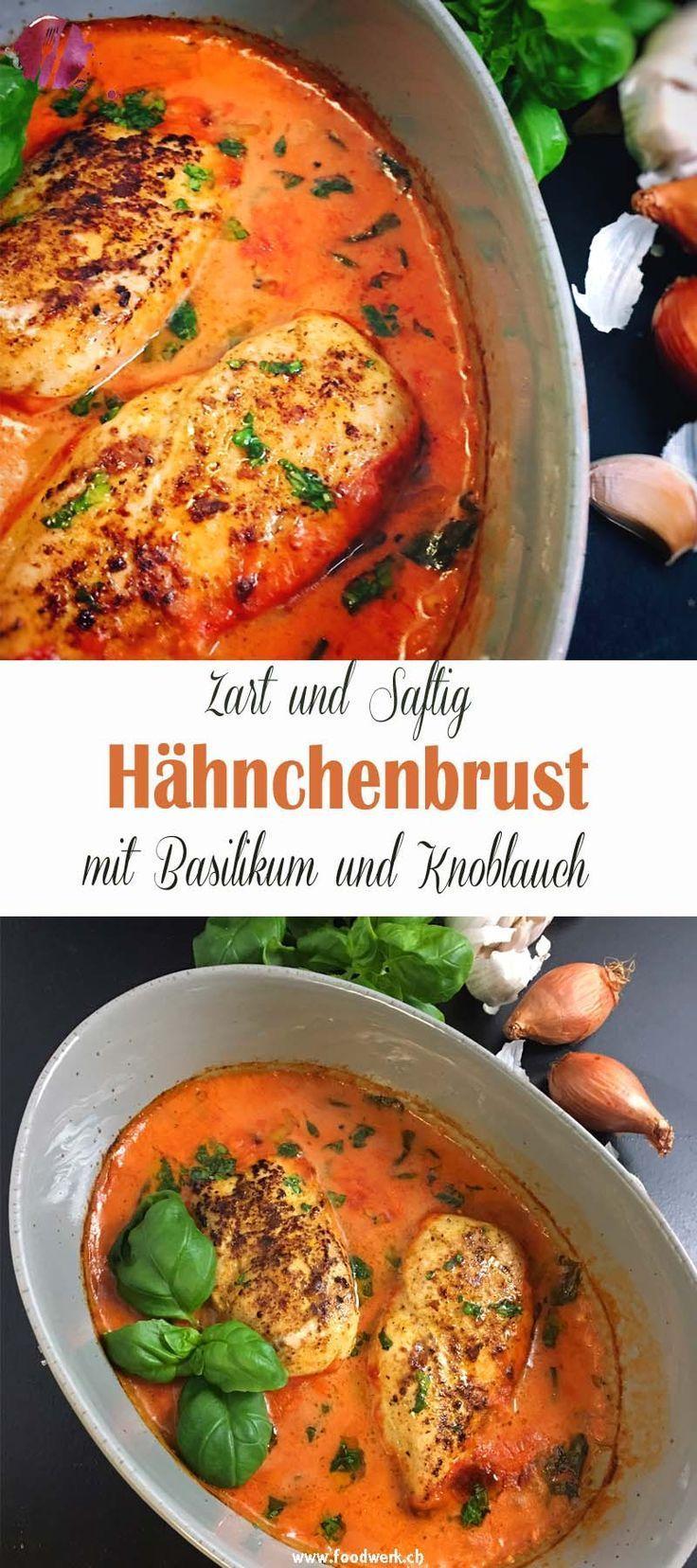 Poulet- / Hähnchenbrust mit Basilikum und Knoblauch | Food-Blog Schweiz | foodwerk.ch