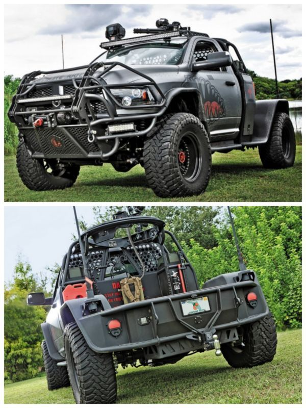 OMG! Talking of danger, the Gunner Fabrication's Dodge 3500 is a simple, quick designed but dangerous on a zombie infested road.OMG! Talking of danger, the Gunner Fabrication's Dodge 3500 is a simple, quick designed but dangerous on a zombie infested road.