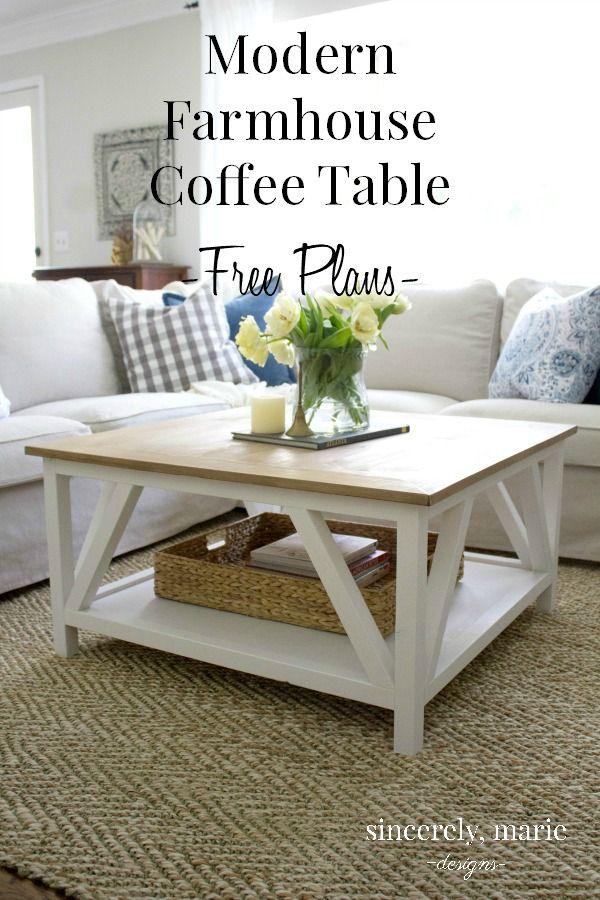 Diy Modern Farmhouse Coffee Table Farmhouse Style Living