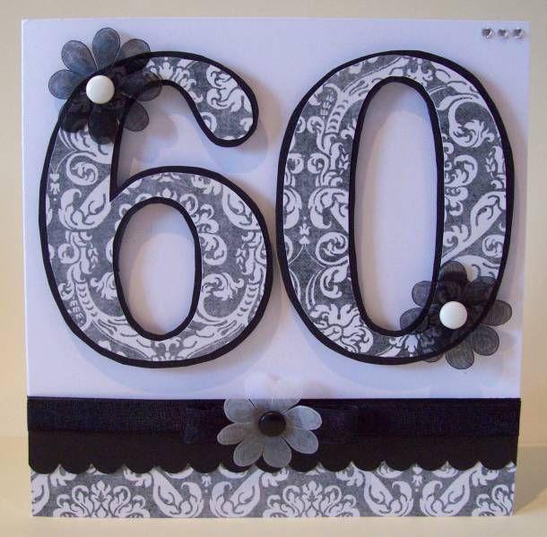 60th Birthday Monochrome 60th Birthday Cards Birthday Cards For Women 60th Birthday Cards For Ladies