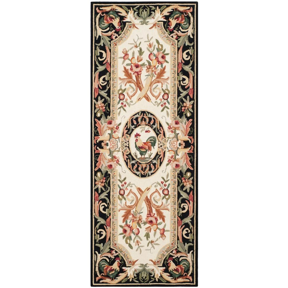 Safavieh Chelsea Ivory Black 3 Ft X 10 Runner Rug