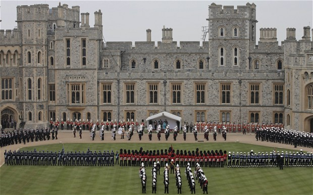 Diamond Jubilee Armed Forces Stage Windsor Parade For The