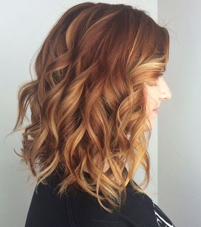 Copper Hair Blend Red Ombr With Blond And Copper Highlights Hair