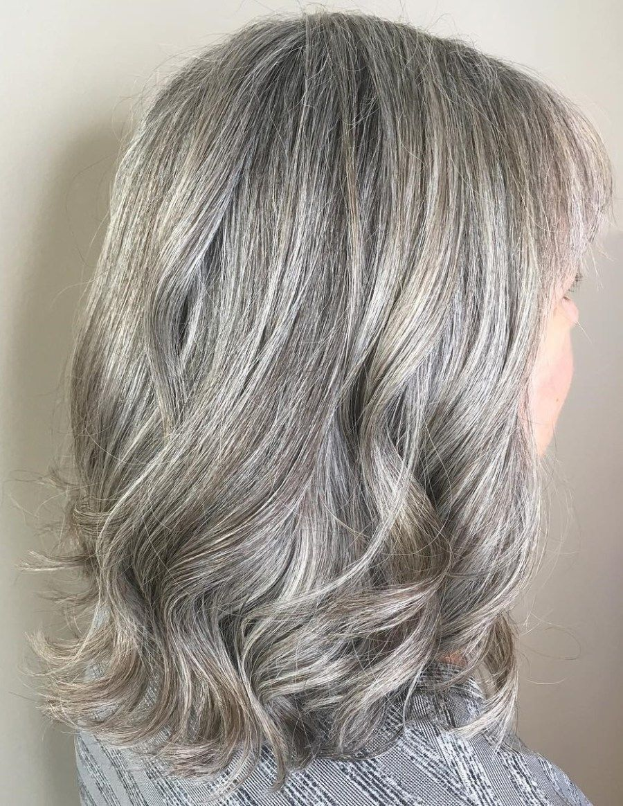 65 Gorgeous Gray Hair Styles Medium Length Hair Styles Medium Hair Styles Long Gray Hair