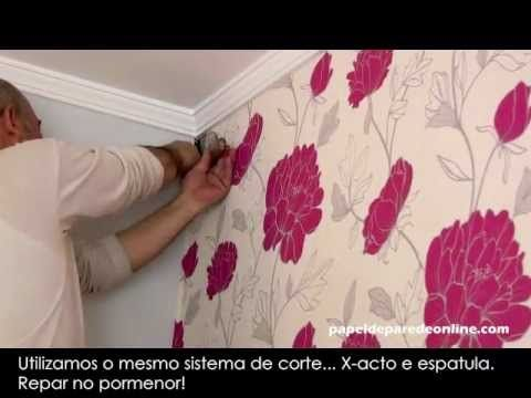 Aplicar Papel De Parede Youtube For The Home In 2019 Diy Wall