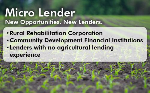 Micro Lenders Offer Customers Ez Guaranteed Loans For Their Farm Operations Guaranteed Loan Loan Lenders Financial Institutions