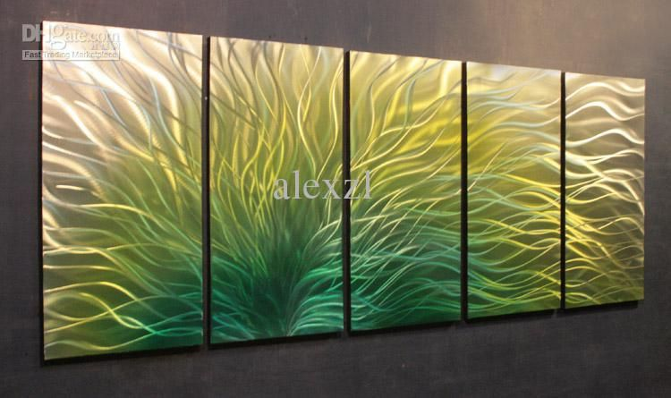 Fantastic Modern Abstract Metal Wall Art Painting Sculpture Decor ...