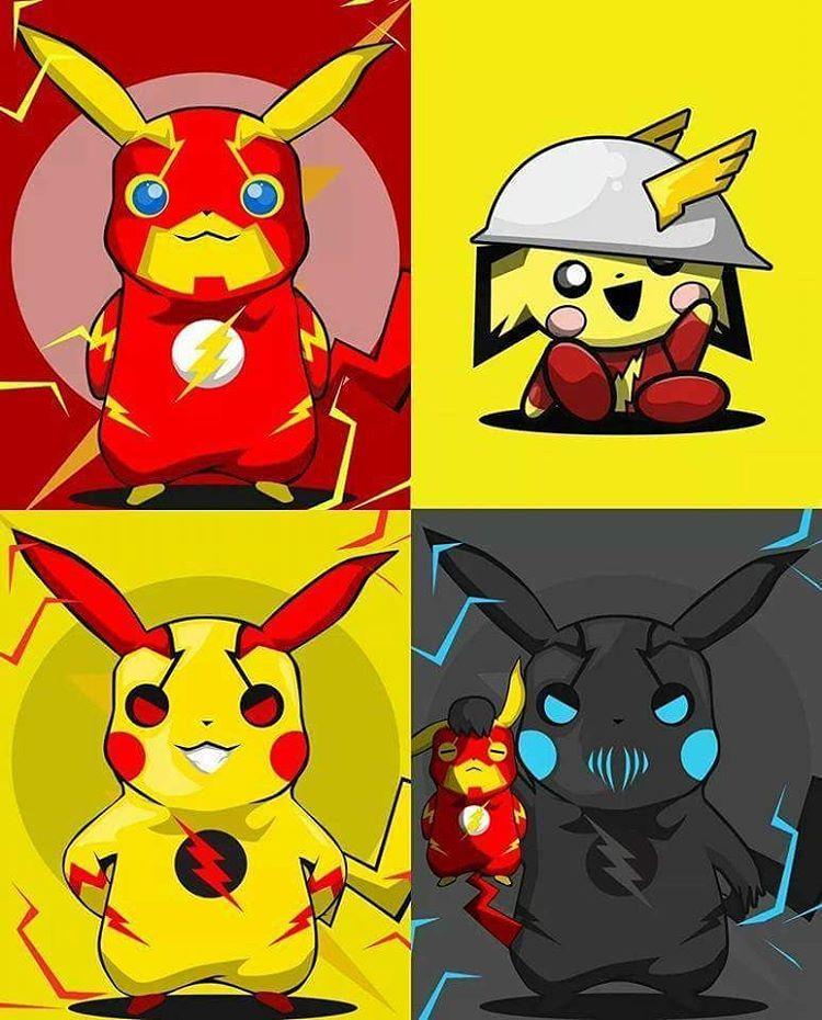 Speed Force Pikachu Art By Bosslogic Flash Jay Garrick Reverse