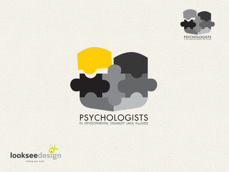 Psychologist In Developmental Disability Logo Designed By Looksee Design Psychotherapy Business Cards Logo Design Visiting Cards