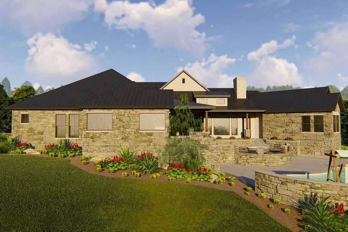 3 Bedroom Single Story Contemporary New American Home with Open Concept Living Floor Plan