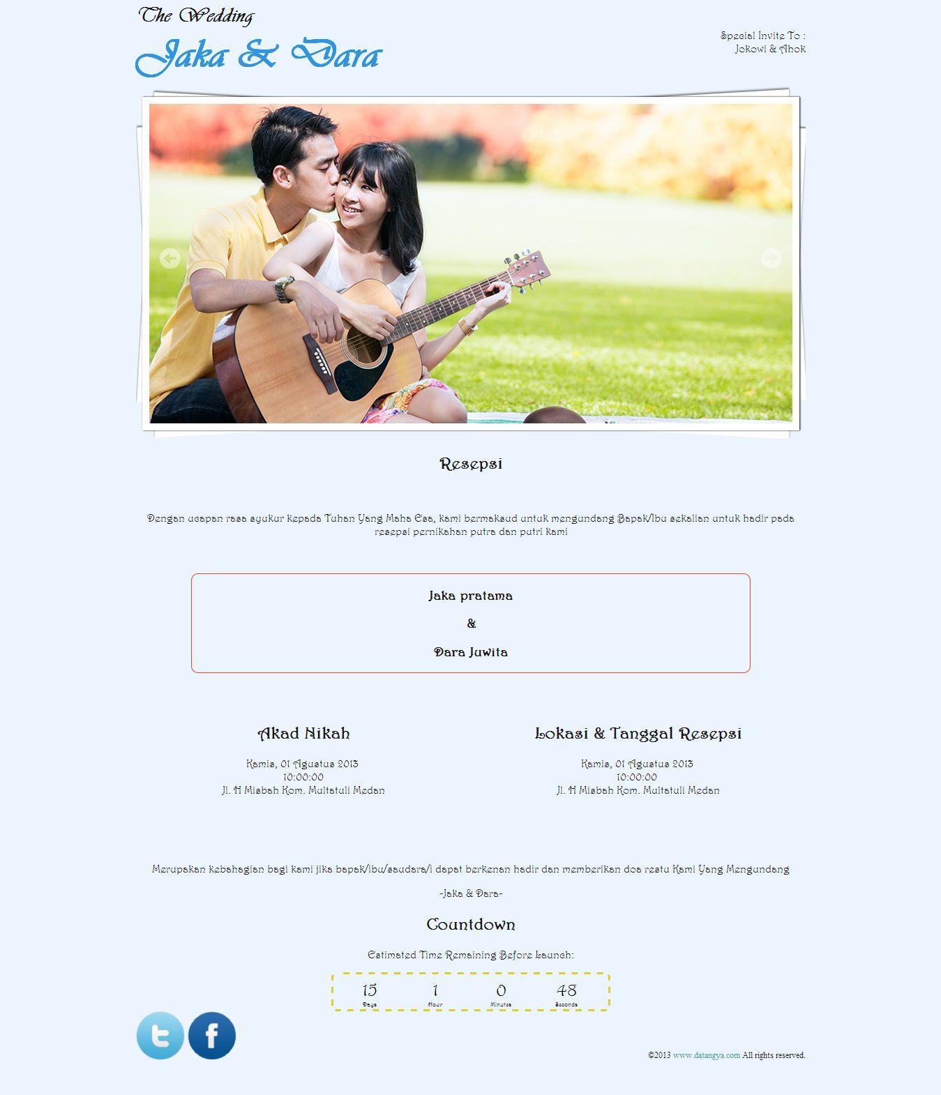 Desain Tema Undangan Pernikahan Online Gratis Dari Datangya Com