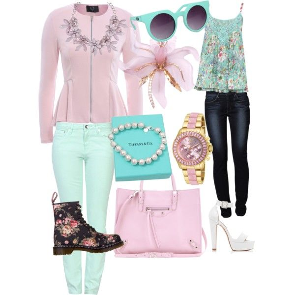 Untitled #13 by meagandahlen on Polyvore featuring polyvore, fashion, style, M&Co, AX Paris, Love Moschino, Levi's, Dr. Martens, Forever New, Balenciaga, Invicta, Tiffany & Co., sweet deluxe and Quay