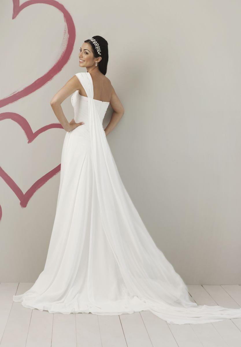Chiffon One-Shoulder A-Line Elegant Wedding Dress