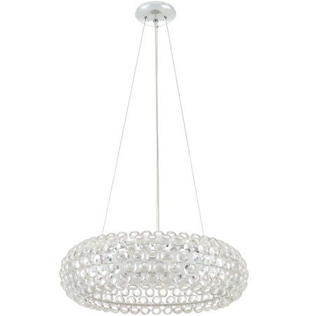 Modway Halo 25 Pendant Chandelier In Clear Silver Pendant Chandelier Chandelier Halo