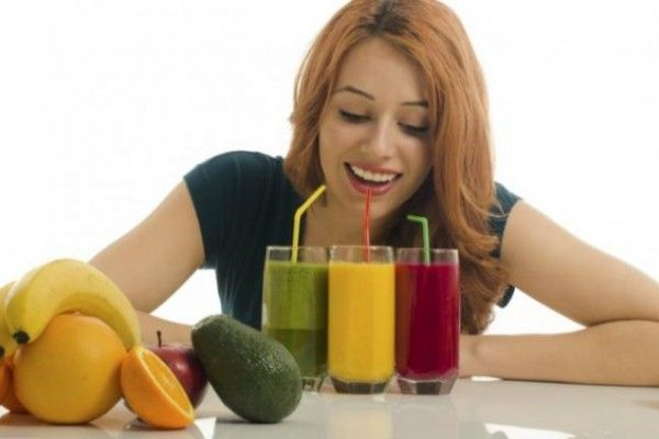 beber solo jugos de frutas
