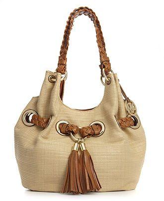 0f114fa0d51c MICHAEL Michael Kors Handbag, Braided Grommet Large Shoulder Tote - Shop All  - Handbags & Accessories - Macy's