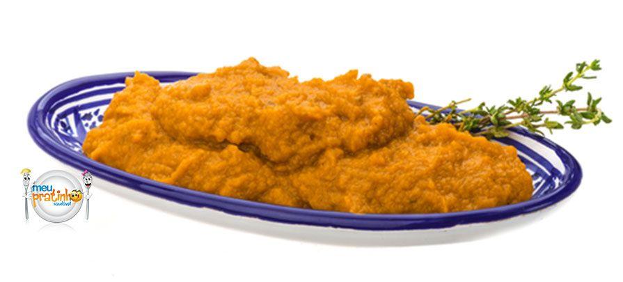 Patê de cenoura. Confira a receita deste delicioso patê de cenoura e outras opções para os lanchinhos das crianças no blog do Meu Pratinho Saudável.