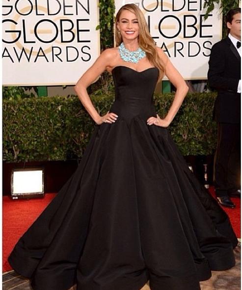 sofia vergara In #zacposen #gown @Sophie Milano