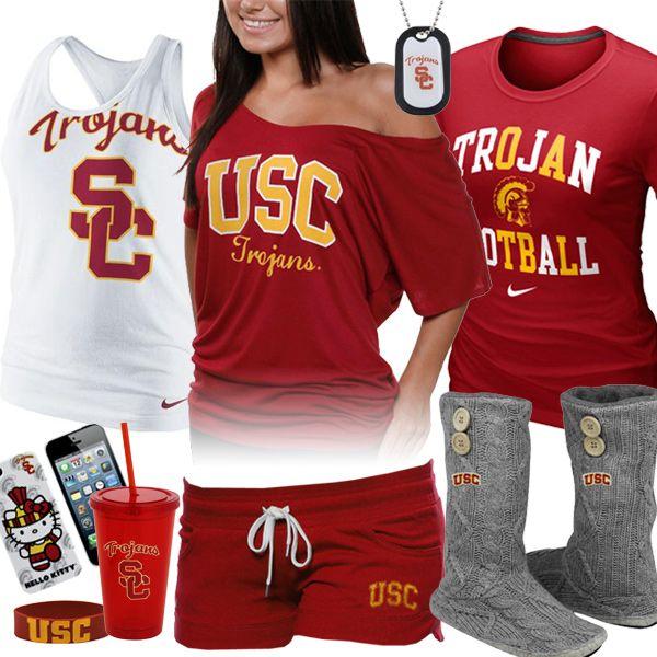 Womens Usc Trojans Fan Gear  Style Collages  College -5551