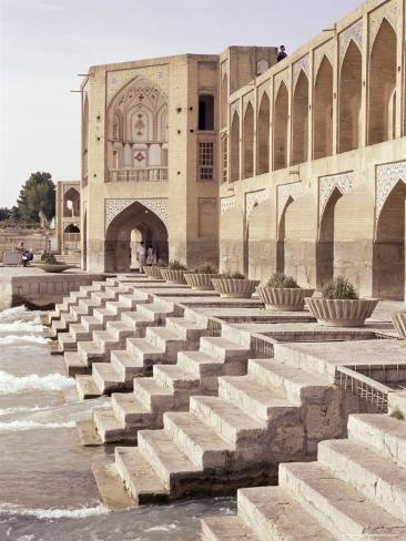 'Khaju Bridge, Isfahan, Iran, Middle East' Photographic Print - Sergio Pitamitz | Art.com