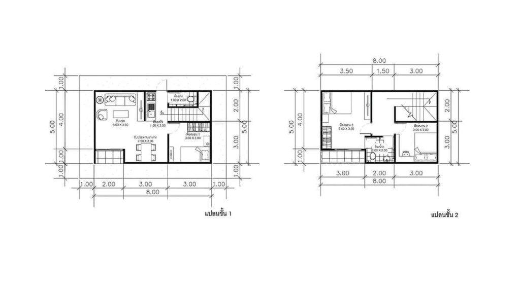 House Plans Idea 8x5m With 3 Bedrooms Sam House Plans House Plans House Floor Plans 3 Bedroom Home Floor Plans