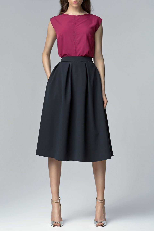 Nife - Helena Skirt in Dark Blue
