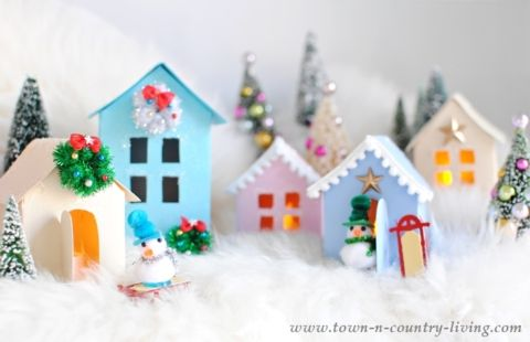 Christmas Village Free Printable to Make Your Own TEMPLATES - christmas town decorations
