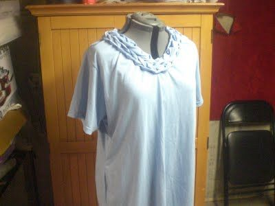 Must Add Fabric Softener: How to make a braided neckline shirt