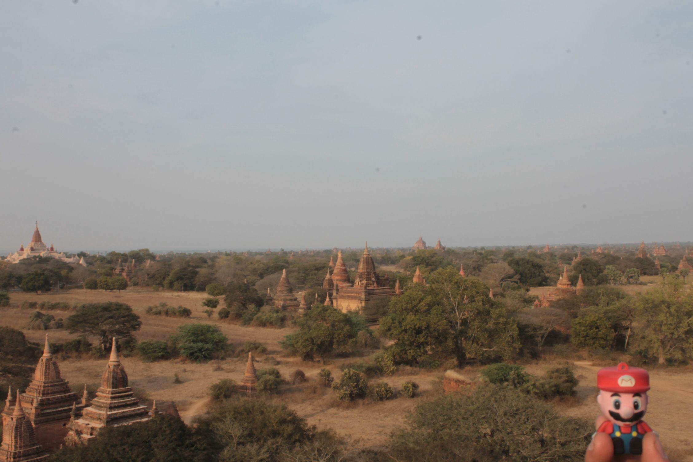 en los templos de Bagan, se conoce que le gustó