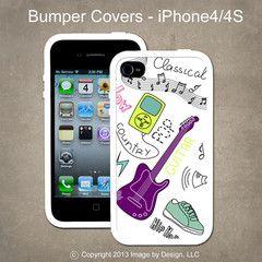 Guitar- I Phone 4, 4s Bumper Cover