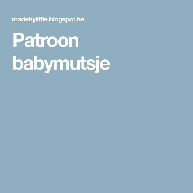 Patroon babymutsje