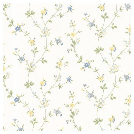 Dollhouse Deanna Trail Wallpaper in Light Blue by Brewster