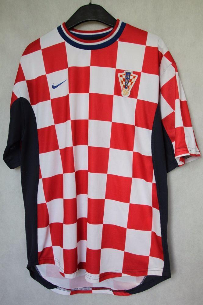 07dd2d28a7e Croatia Hrvatska National Football Team 2000/2001 Jersey Shirt Nike sz L  (070) #Nike #Croatia