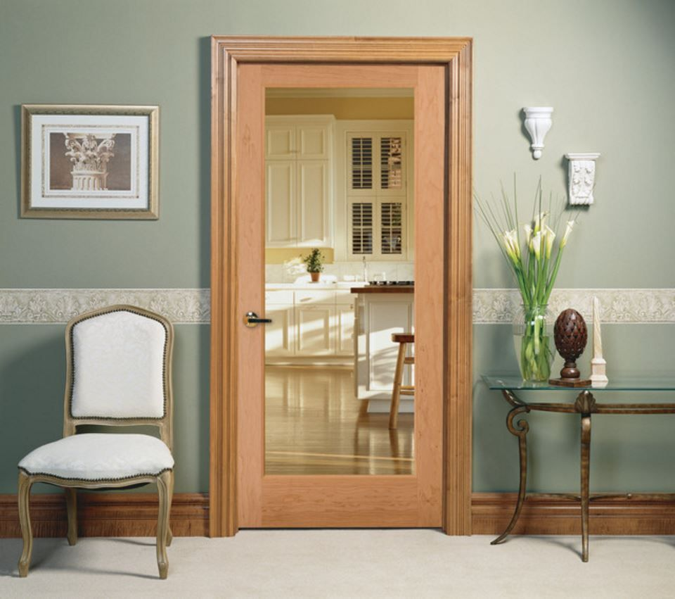 Clear Glass Interior Door features one lite clear glass Perfect