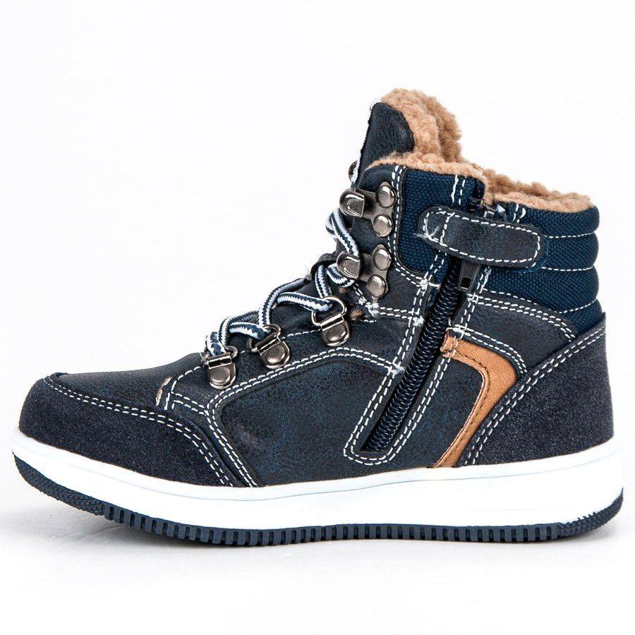 Buty Sportowe Dzieciece Dla Dzieci Americanclub American Club Niebieskie Ocieplane Sportowe Trampki American High Top Sneakers Sneakers Shoes