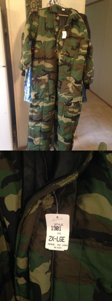Coveralls 177869: Camo Puffy Coveralls Size Xxl -> BUY IT NOW ONLY: $30 on eBay!