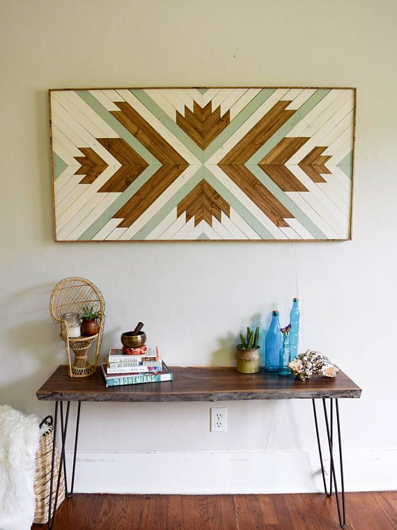 Wood Wall Art - Wooden Wall Art - Wood Headboard - Wood Art - Wooden