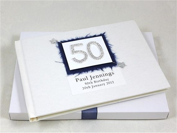 50th birthday guest book by albumsandkeepsakes on etsy 29 99