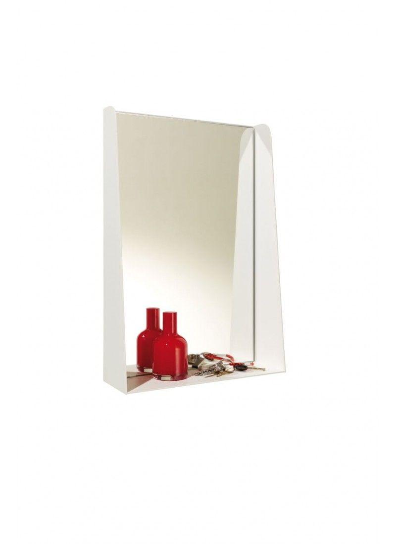 #Ablage mit #Spiegel. Schön für den #Flur, passend aber auch für das #Badezimmer. Anschauen bei #minimalinteria