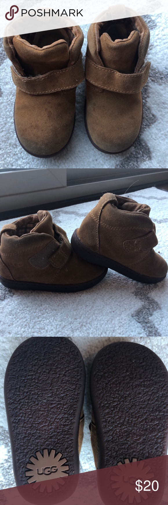 Toddler boy UGG boots Velcro size 7