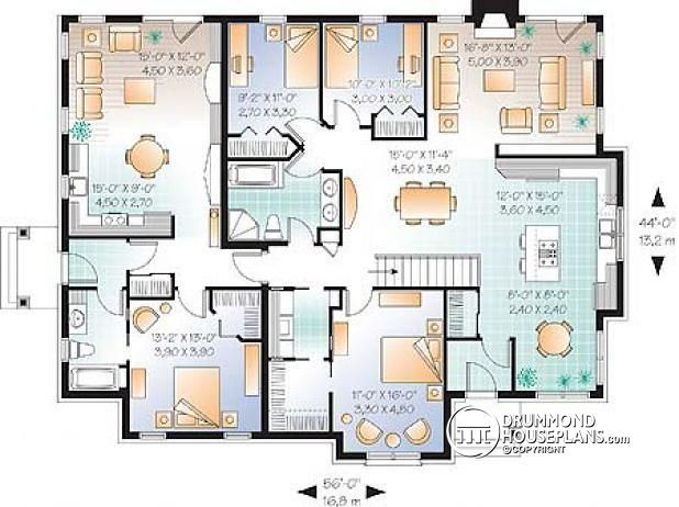 Multigenerational Homes Google Search House Floor Plans House Plans Drummond House Plans