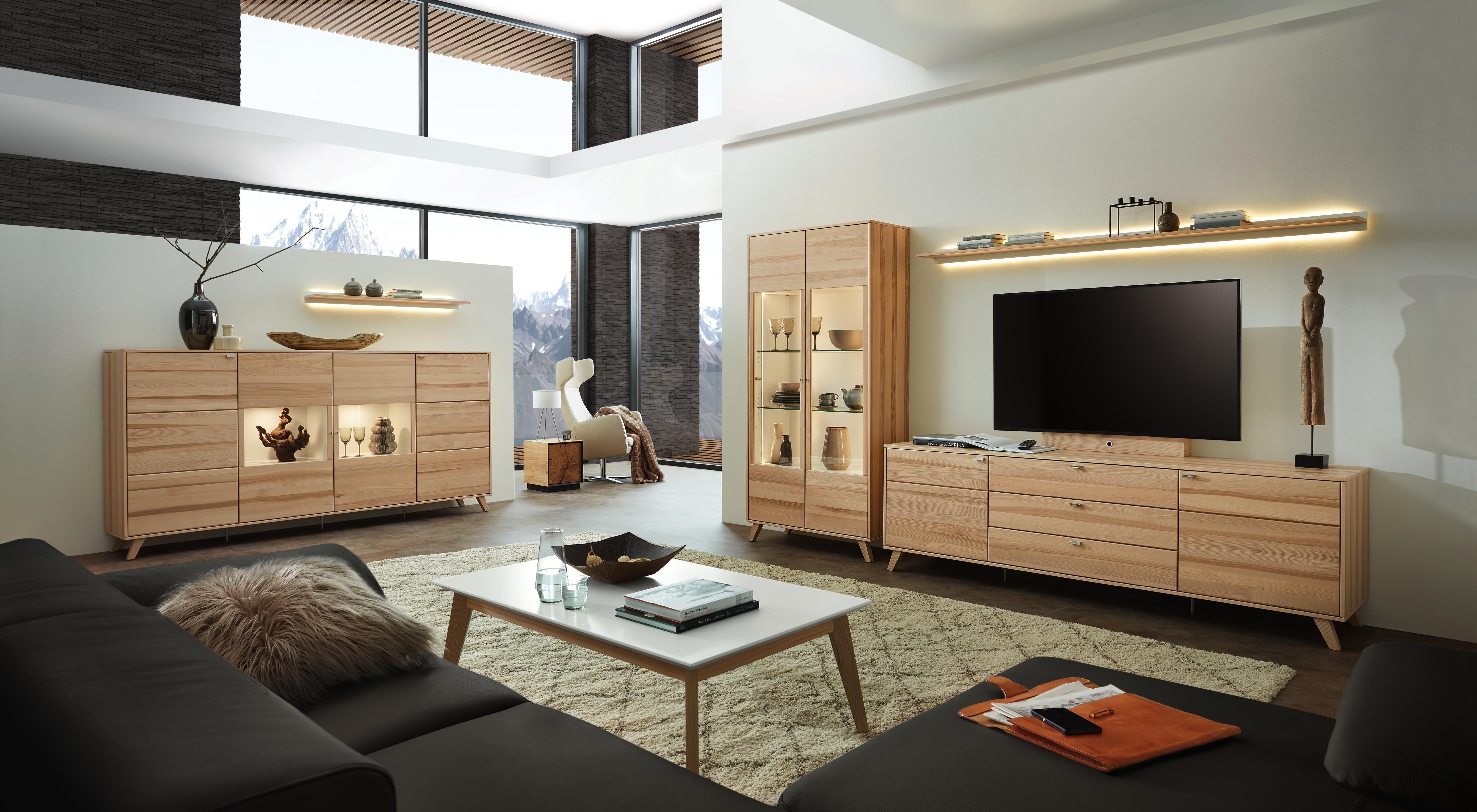 Großer Wohnzimmerschrank ~ Wohnwand in eschefarben von invivus wohnwände pinterest