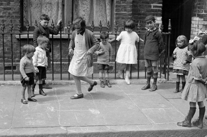 Games Hopscotch On The Street Youth Culture 1900 1920