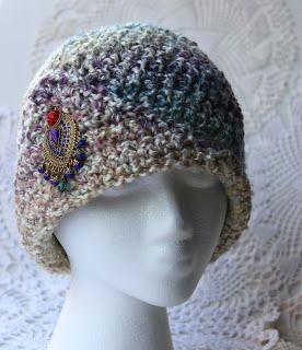 Krissys Wonders : Ladies Fancy Chemo Cap Made with 5 Weight Yarn