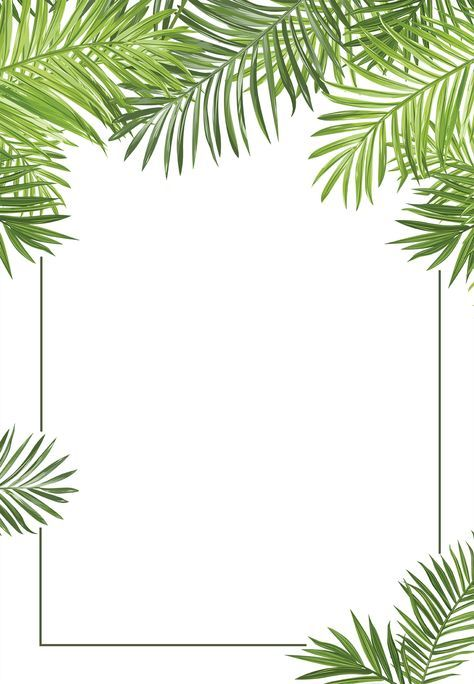 Palm Leaves Free Printable Professional Event Invitation Template