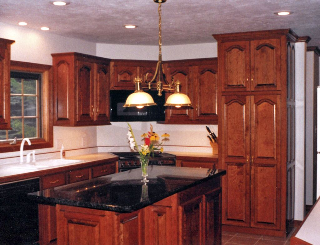 Decorating With Cherry Wood Kitchen Cabinets My From Red
