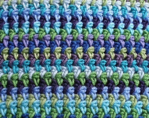 hdc ch 1; simple pattern, looks woven Love this! Great stitch for a ...
