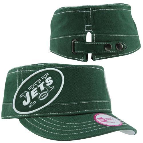 NFL New Era New York Jets Women s Chic Cadet Military Hat - Green ... 8171b89d8
